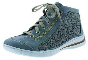 Rieker-M3539-12-Damenschuhe-Stiefeletten-Boots-Schnuerschuhe-blau-36-43-Neu1