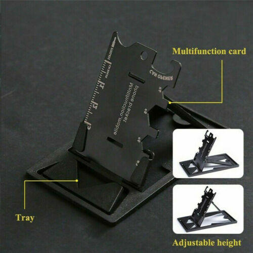 Portable Pocket EDC Multi-tools Outdoor Phone Stand Screwdriver Wrench Opener