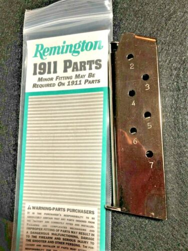 Details about  /1911 MAGAZINE 45ACP 7RD nickel plated mirror heat treated .45 remington colt NEW