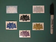 Lotus Flower Sticker Pack - Sacred Flowers, Die Cut Stickers, Vinyl Decals