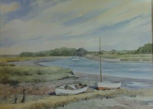 JUDY-MATTIN-Signed-Original-Watercolour-Painting-of-Butley-Creek-Suffolk