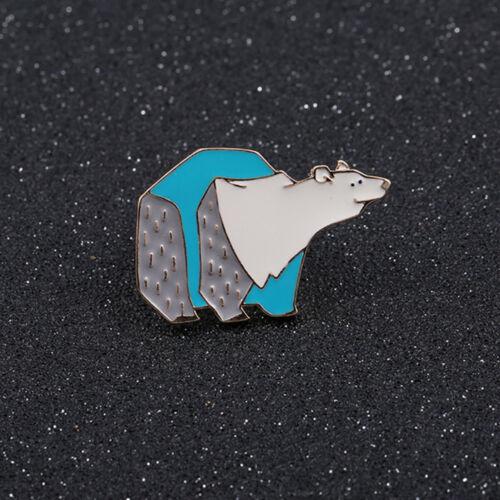 Lindo Oso Polar Esmalte Pins Pin Hijab Broche Insignia con clavijas para De mujer niños