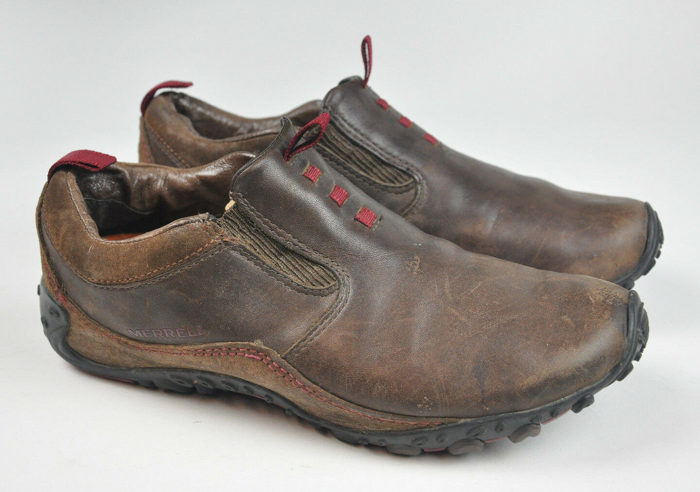 MERRELL Chameleon ARC Moc MOCHA Brown LEATHER Women's Slip On shoes J87754 Sz 8