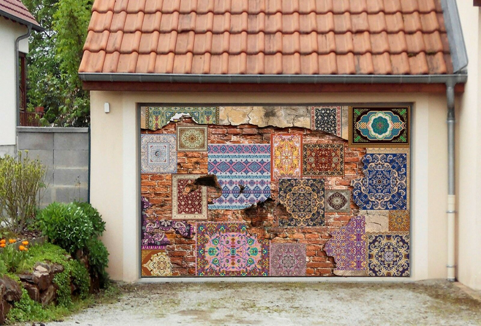 3D Retro Pattern8 Garage Door Murals Wall Print Decal Wall AJ WALLPAPER AU Carly