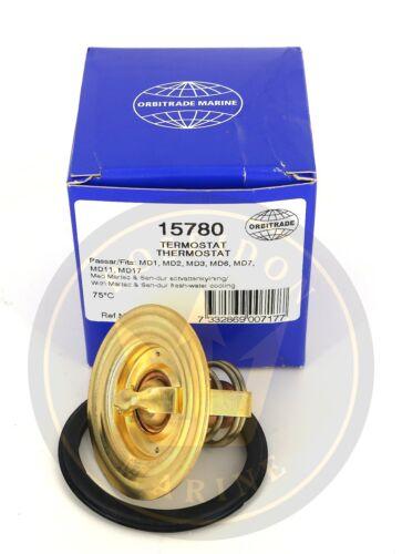 875780 833411 829813 Thermostat kit for Volvo Penta MD1B 75°C RO