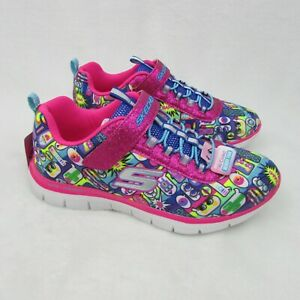 Skechers-Skech-Appeal-Kids-Shoes-Pink-Multi-Color-Size-4-Eur-36