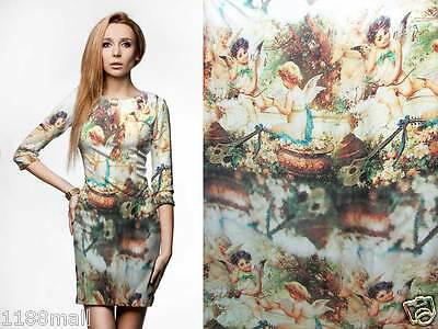 digital print renaissance silk satin charemuse fabric yard plain crepe back