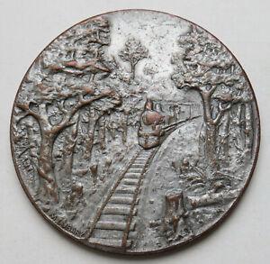 Argentinien-versilberte-Bronzemedaille-1910-Einweihung-der-Eisenbahn-in-Chaco