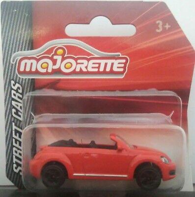 Street Cars Modellauto 1:64 NEU!° Majorette 212052791 VW Beetle Cabrio rot