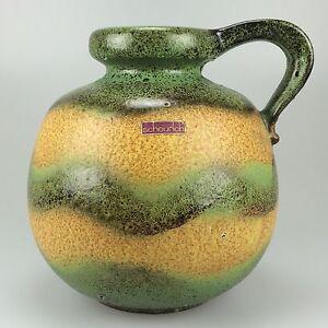 70er-Jahre-Fat-Lava-Vase-Blumenvase-Tischvase-Scheurich-Keramik-Space-Age-Design