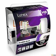 2x H8 Lunex PLASMA BLUE 708 12V 35W Car Headlight Halogen Bulbs PGJ19-1 4200K