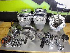 "Harley Evo Revtech 100"" Heads Top End engine cylinder Rockers case flywheel case"