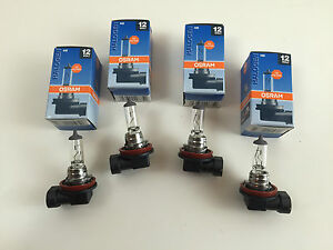 4 x Osram H8 Lamp 12V 35W 64212 PGJ19-1 Bulbs Made IN Germany Lamp Bulb