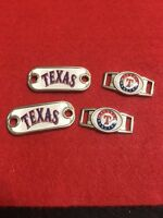 2 Texas Rangers Mlb Paracord Charms Oval Or Mini Dog Tag Shoelace Charms