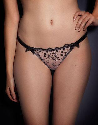 Agent Provocateur AMBROSE Thong XL/5 NWT Pink & Black Orig. $130 Silk!
