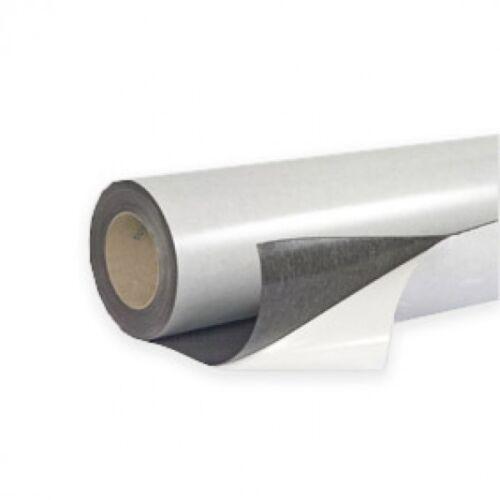 Eisenfolie Ferrofolie selbstklebend weiß matt 0,6mm x 50cm x  50cm