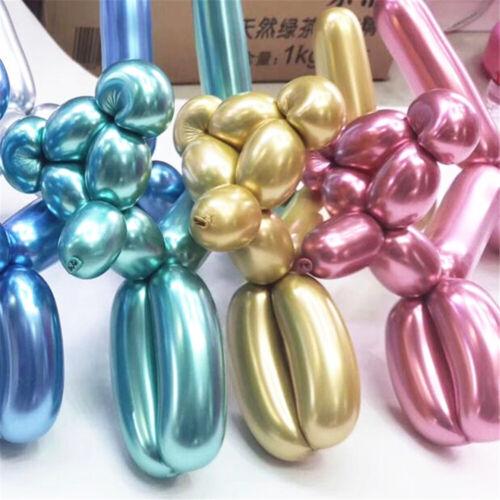 Birthday Party  Wedding Metalic Magic Long Balloon Modeling Balls DIY Strip