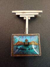 WWII PERIOD RAF SWEETHEART BROOCH BUTTERFLY WING STERLING SILVER