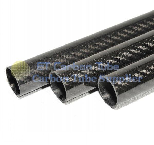 32 MM MM MM ID X 34 mm OD x 500mm 100% Roll avvolto in fibra di autobonio 3K TUBO   TUBO f503ed
