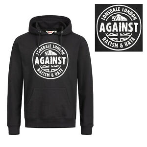 Lonsdale-Black-Hoodie-Hooded-Sweatshirt-Against-Racism-Slim-Fit-Kapuze