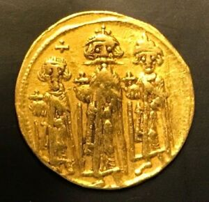 Ancient Byzantine Gold Coin Heraclius