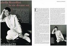 Coupure de presse Clipping 1994 (4 pages ) Isabella Rossellini