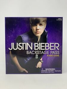 Justin-Bieber-Backstage-Pass-Board-Game-Bravado-2010-In-Excellent-Condition