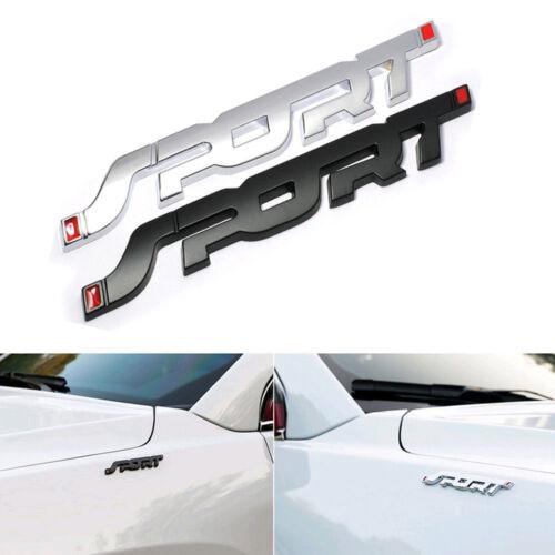 3D Silver SPORT Logo Car Sticker Plating Badge Fender Door Rear Trunk Emblem