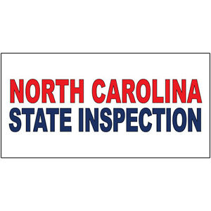North Carolina State Inspection Red Blue Decal Sticker