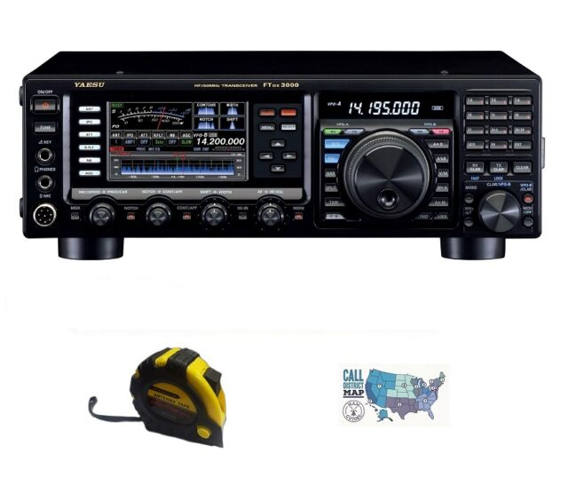 Yaesu Ft-dx3000 HF 100w Contest Base Radio With RADIOWAVZ Antenna Tape