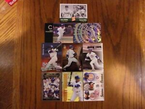 Baseball Card Player Lot Of 9 Cards Sammy Sosa Chicago Cubs