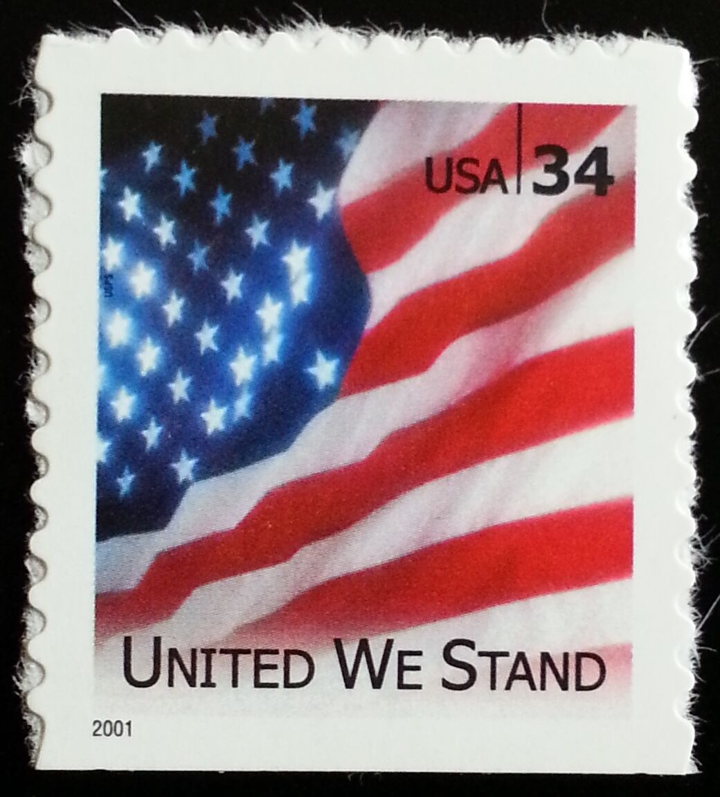 "2001 34c ""United We Stand"" Special Issue Scott 3549 Min"