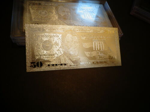 999.9 /% SILVER PLATED *2009 MINT $ 50 DOLLAR BILL* COMES IN ACRYLIC,SLAB HOLDER