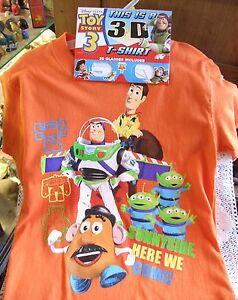 639e80385cf080 Disney Pixar 3-D Toy Story 3 T-Shirt, MINT-3-D Glasses! Here We Come ...