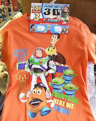 Disney Pixar 3-D Toy Story 3 T-Shirt, MINT-3-D Glasses! Here We Come! Medium 8