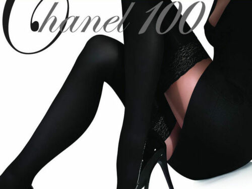 100 Denier 9cm Deep Lace Top Exclusive Hold-ups by Marilyn
