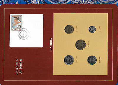 Coins: World Sensible Coin Sets Of All Nations Namibia W/card Unc $5,5,50 Cents 1993 $1 10 Cents 1996 Africa