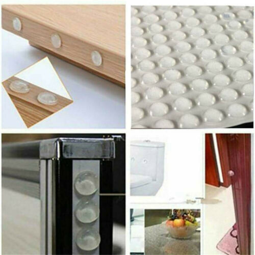 100X Self-Adhesive Clear Rubber Feet Semicircle Bumper Door Buffer Silicone Pads