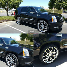 "24"" Wheels Tires GMC Sierra Chrome Rims TPMS Denali Yukon Silverado Escalade 26"