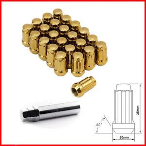 Lug-Nuts-Dadi-Ruota-Japan-Racing-12x1-5-JN2-Oro-Gold-20-pezzi-con-chiave-JDM-C