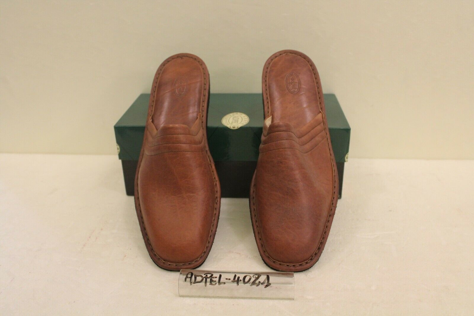 Pantofole hombres in Pelle - Cod.4021 - Adpel