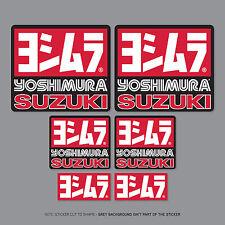 SKU2208 - 6 x Yoshimura Exhausts - Suzuki -  Decals - Stickers