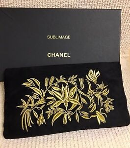 422e5b574eeb9b Image is loading NEW-RARE-CHANEL-BEAUTE-Beautiful-Embroidery-Makeup-Cosmetic -