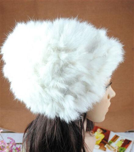Luxus Pelzmütze Fellmütze Wintermütze Polarmütze Kannin Echtem Kaninfell