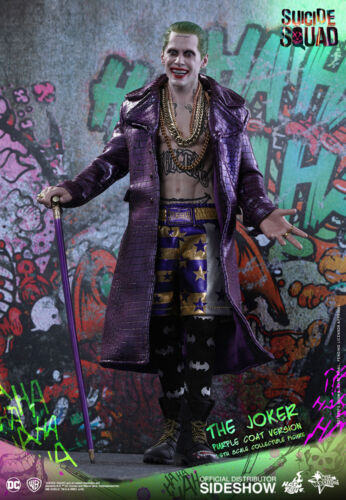 The Joker Purple Coat Version Jared Leto Suicide Squad MMS382 12 Figur Hot Toys