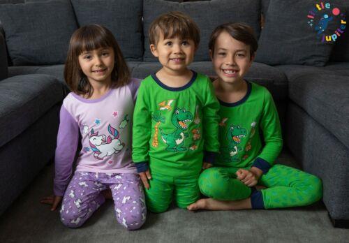 Dinosaur Green Little Jupiter Boys Pajamas with Glow in The Dark