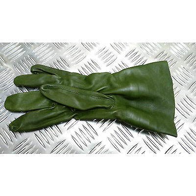 Genuine British Military Green Leather Aircrew / Pilots Gloves NEW - All Sizes