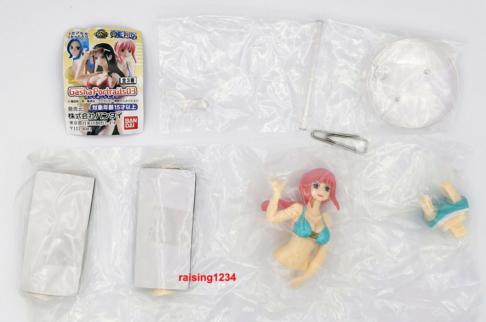 Bandai One Piece Anime Figure Gasha Portraits 3 Robin Rebecca Vivi set 3 pcs
