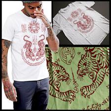 Thai magic Sacré Tatouage SAK YANT Seua Tigres manches 3//4 raglan Shirt