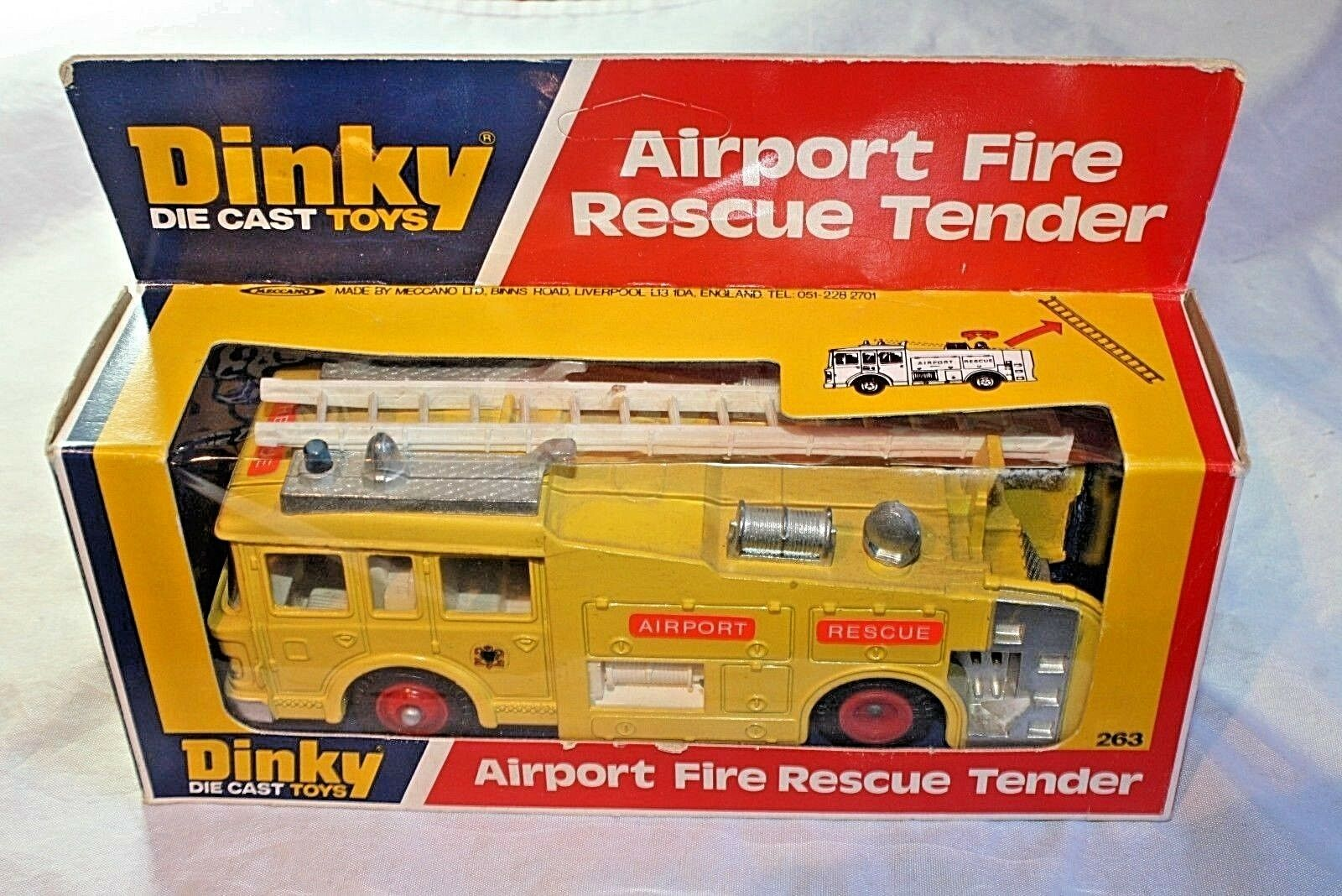 Dinky 263 Airport Fire Rescue licitación, Menta en Caja Original Excelente